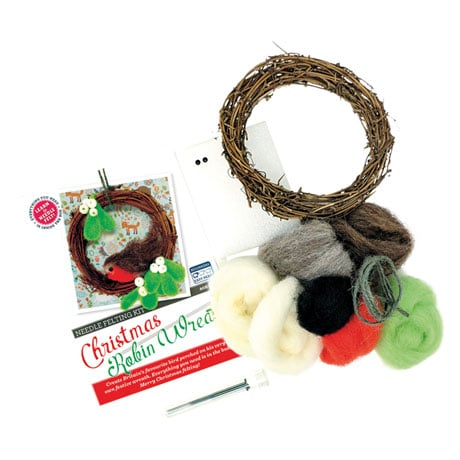 Christmas Robin Wreath
