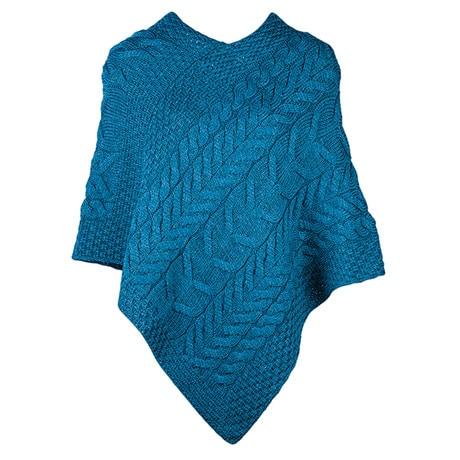 Irish Sea Woolen Poncho
