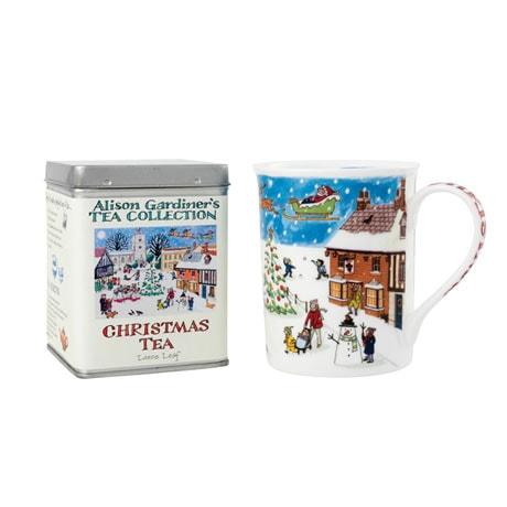 Tea Caddy and Christmas Mug
