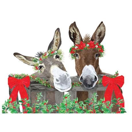 Donkey Buddies Christmas Cards