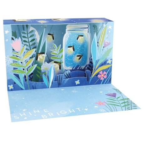 Fireflies Shadow Box Card