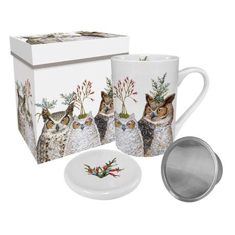 Holiday Hoot Tea Mug