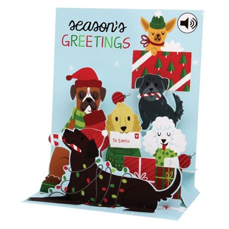 Jingle Bell Dogs Musical Pop-Up Card