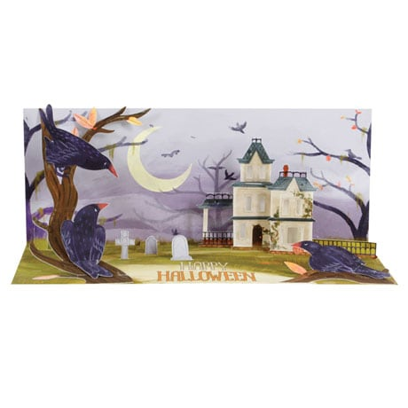 Haunted Hill Lighted Pop-Up Card