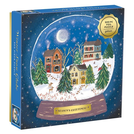 Winter Snow Globe Puzzle