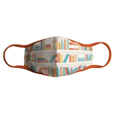 Literary Face Mask: Bookshelf