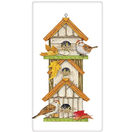 High Rise Bird House Tea Towels