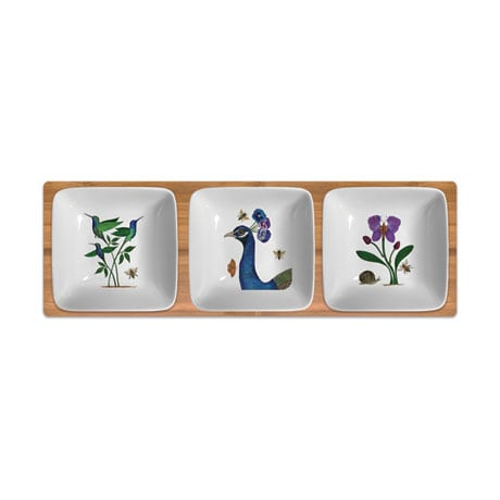 Floral Birds and Butterflies Dipping Bowls