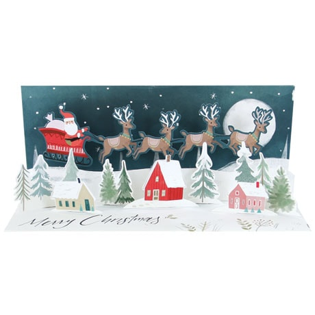 Santa's Sleigh Panoramic Pop-Up Card