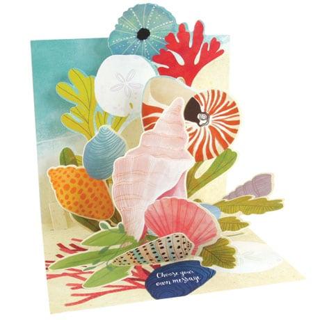 Ocean Shells Pop-Up Card