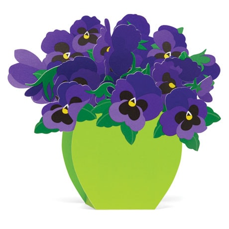 Playful Pansies 3D Cards