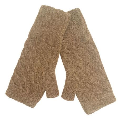 Fingerless Cashmere Mittens