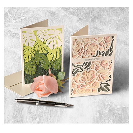 Layered Botanical Cards