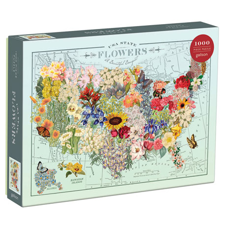 USA State Flowers Puzzle