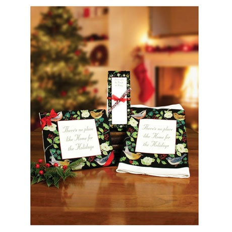 Home for the Holidays Tea Towel, Notepad, and Pen Set