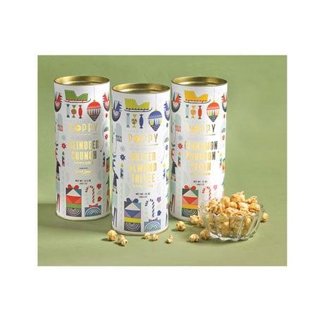 Poppy Popcorn Tins - Butter Almond Toffee