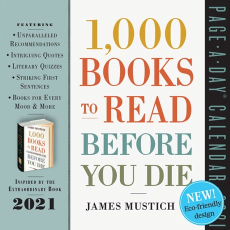 1,000 Books to Read Before You Die 2021 Page-A-Day Calendar