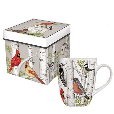Birch Birds Boxed Mug