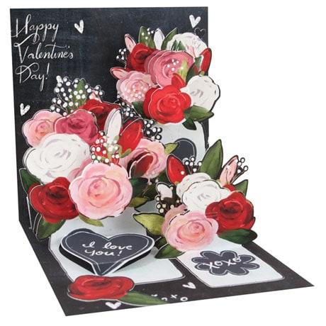 Mason Jar Roses Pop-Up Card