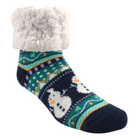 Wintry Mix Slipper Socks - Snowman