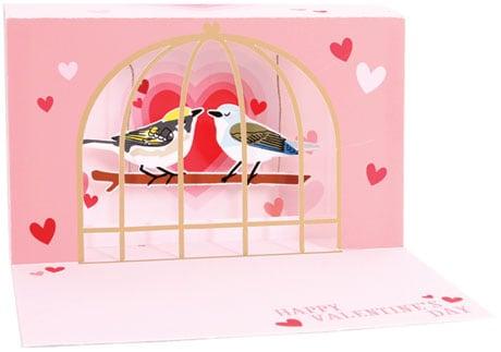 Love Birds Lighted Pop-Up Card