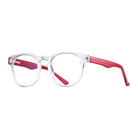 Crystal Clear Blue-Blocking Readers - Hot Pink