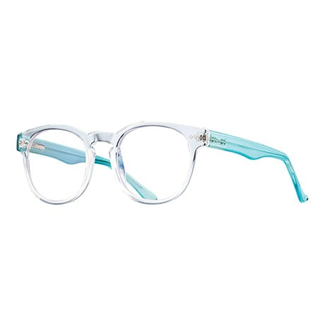 Crystal Clear Blue-Blocking Readers - Turquoise