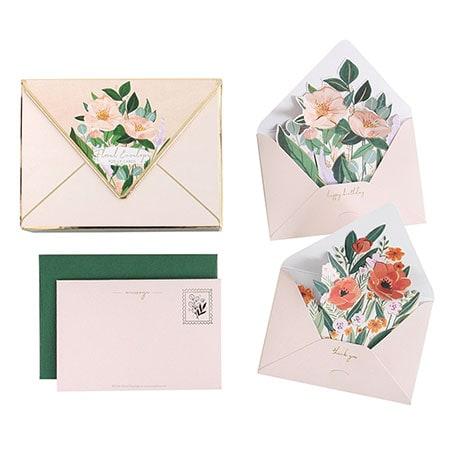 Floral Envelope Pop-Up Cards Box Set