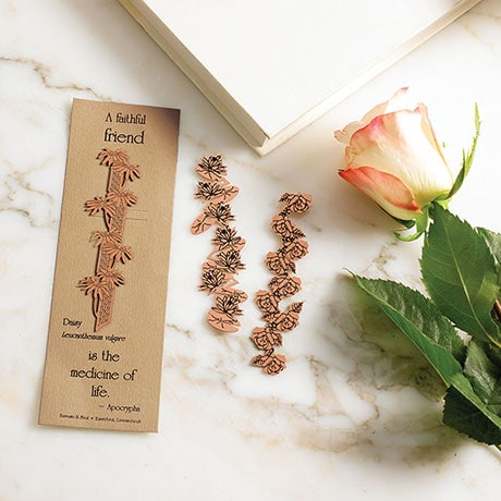 Floral Philosophy Copper Bookmarks - Water Lily