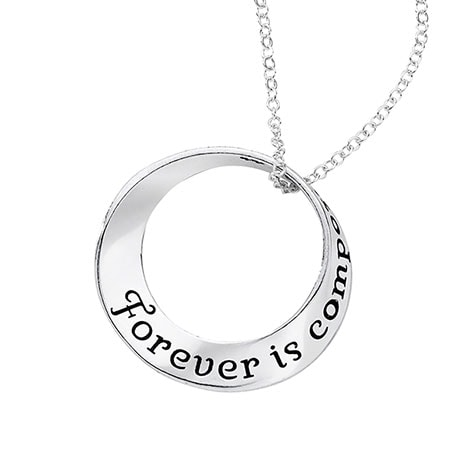 Forever Is Composed of Nows Möbius Necklace