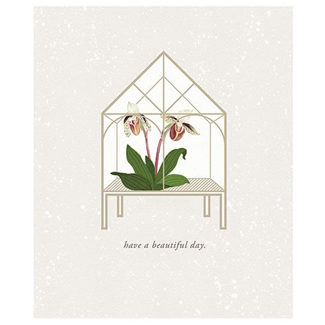 Orchid House Pop-Up Card