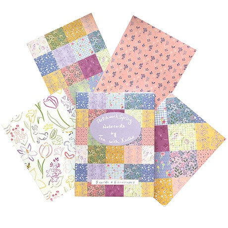 Patchwork Spring Note Cards