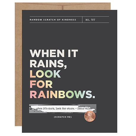 Look for Rainbows Scratch-Off Cards
