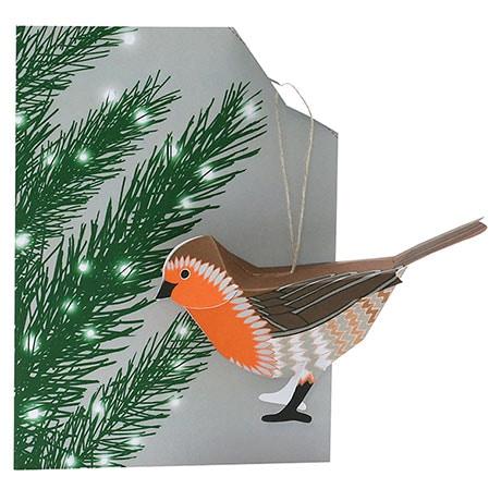 Bird Ornament Cards - Robin