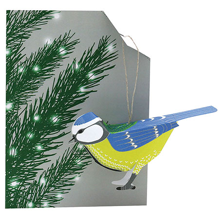 Bird Ornament Cards - Blue Tit