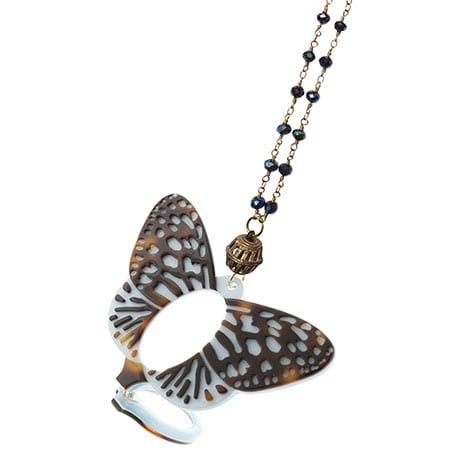 Monarch Butterfly Magnifier Necklace