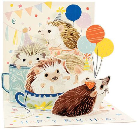 Hedgehog Birthday Pop-Up Card