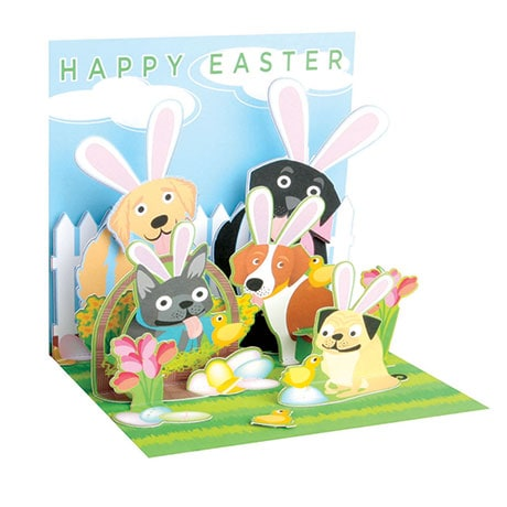 Easter Dogs Pop-Up Card