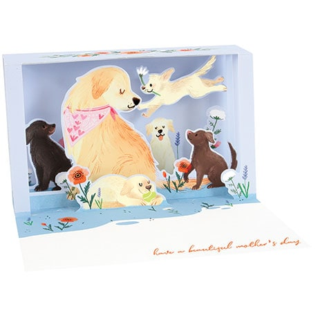 I Wuff You, Mom Lighted Shadowbox Card