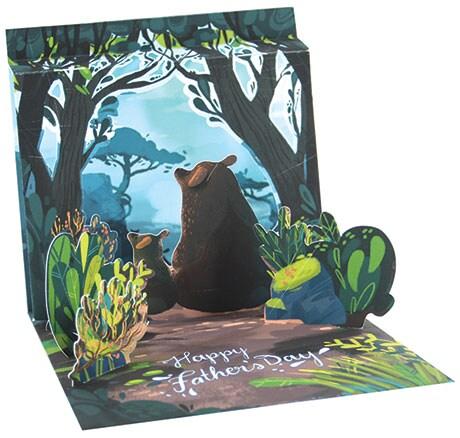 Father Bear Pop-Up Card