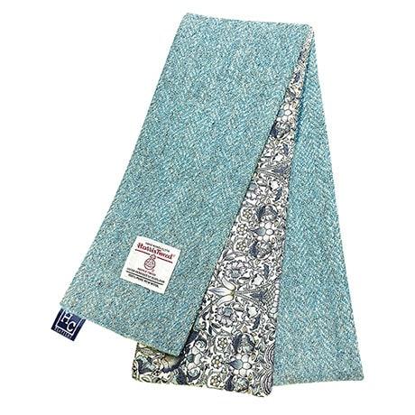 Harris Tweed/Floral Skinny Scarf