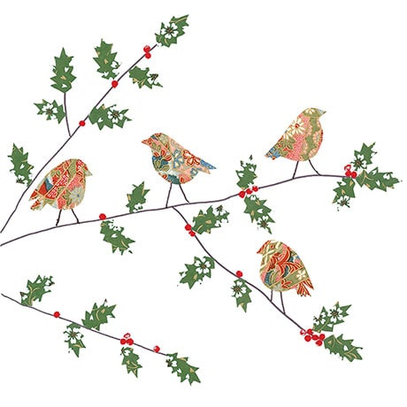 Four Robins Christmas Cards