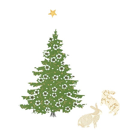 Snow Hares Christmas Cards
