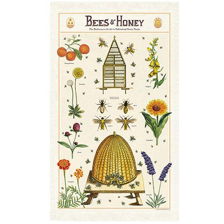 Bees and Honey Vintage Tea Towel