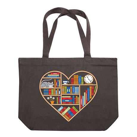 Book Heart Tote