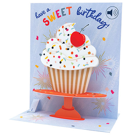 Cupcake Stand Audio Pop-Up Card