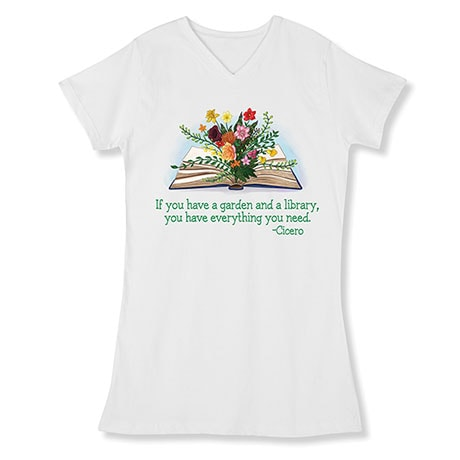 Garden and Library Nightshirt
