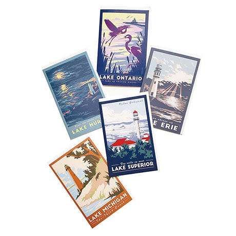 Great Lakes Note Cards