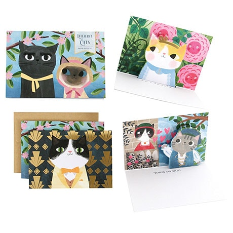Literary Cats Pop-Up Cards