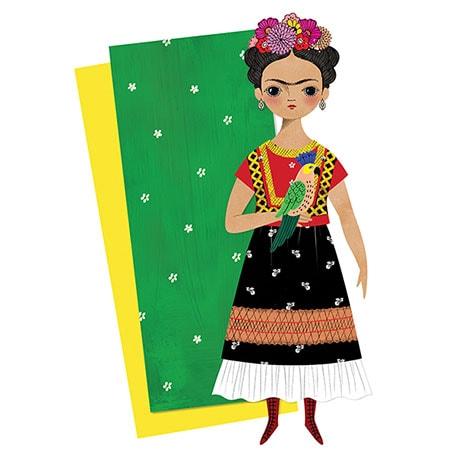 Paper Doll Card: Frida